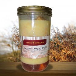 Bocal demi-canard confit (1 magret + 1 cuisse)